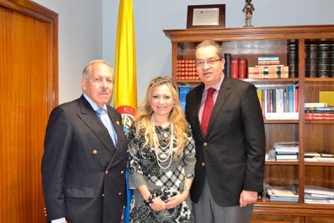Ania Granjo es recibida en la Embajada de Colombia en Madrid
